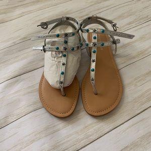 NWOT Madden girl silver sandal
